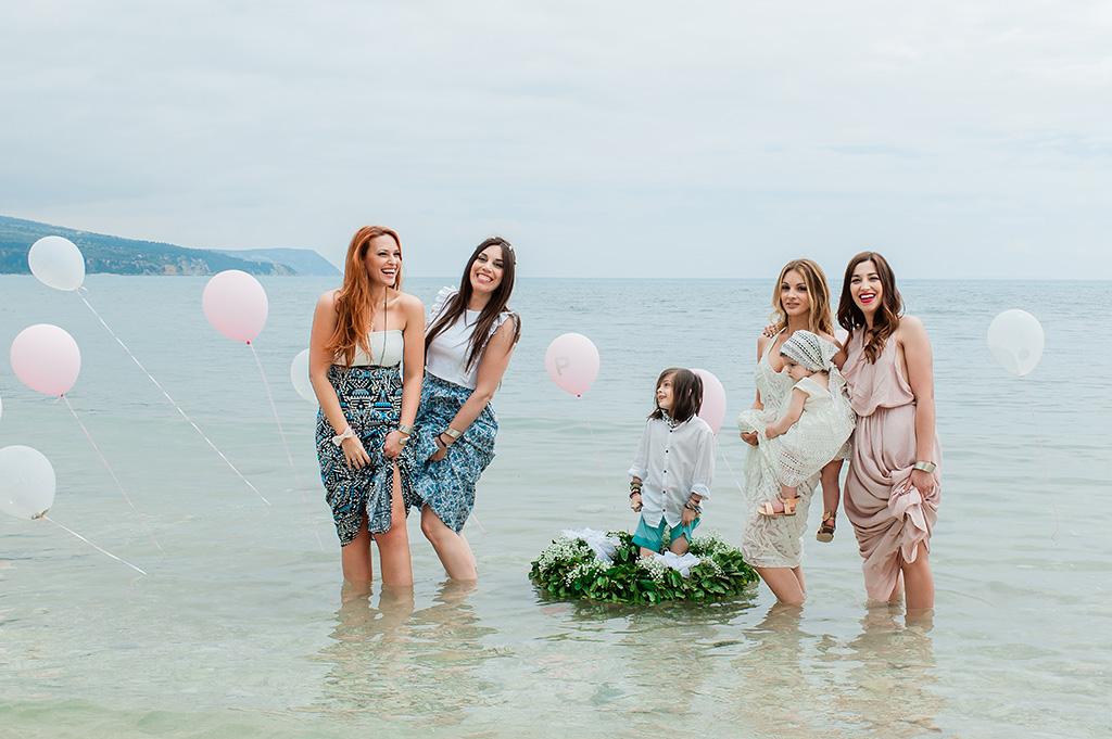 βάπτιση στη θάλασσα, Baby Christenning Baptism on the Beach, Φωτογράφιση Βάπτισης στην Θάλασσα στην Κεφαλονιά
