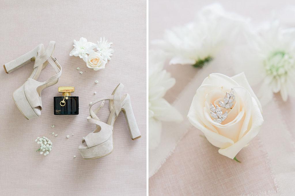 Φωτογράφιση γάμου στην Θεσσαλονίκη, Bridal details, Νυφικά παπούτσια και σκουλαρίκια, An Elegant Wedding In Thessaloniki