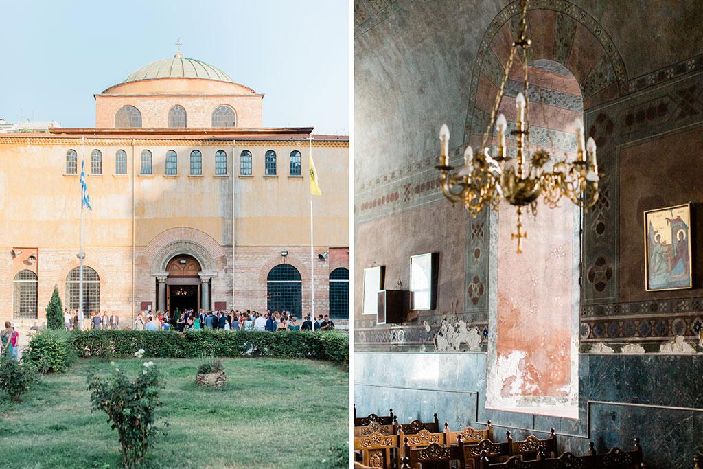 Η εκκλησια της Αγίας Σοφίας στη Θεσσαλονίκη σε ώρα γάμου, the church for an elegant wedding in thessaloniki