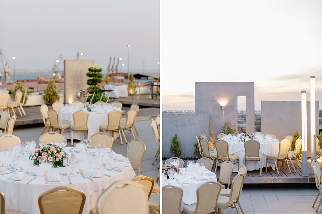 Wedding venue on the roof garden at Hotel Porto Palace
