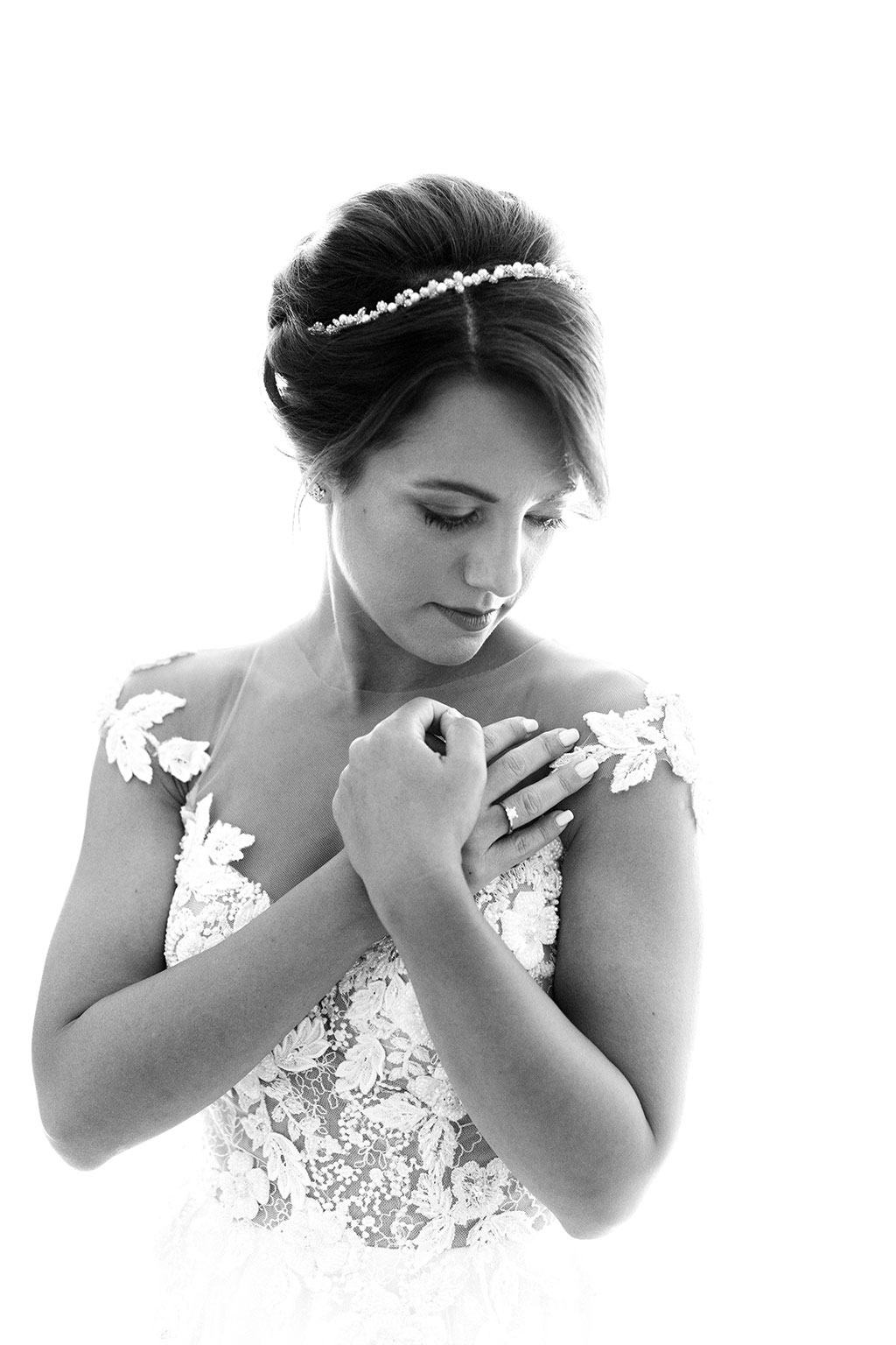 Ασπρόμαυρο πορτραίτο νύφης, Φωτογράφιση γάμου στην Θεσσαλονίκη